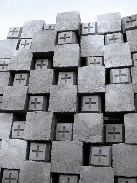 Kunststoff Grenzstein