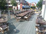 Recycling-Kunststoff Terrassenbohlen, Bänke und Tische