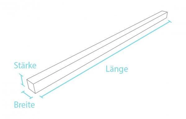 Kunststoff Vierkantprofil ohne Spitze